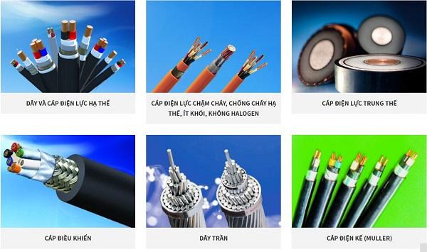 Dây điện có nhiều mẫu mã đa dạng