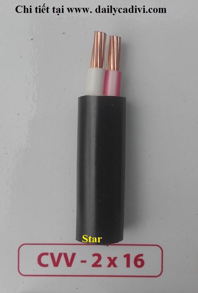 Dây-cáp-điện-Cadivi-cvv 2x16mm