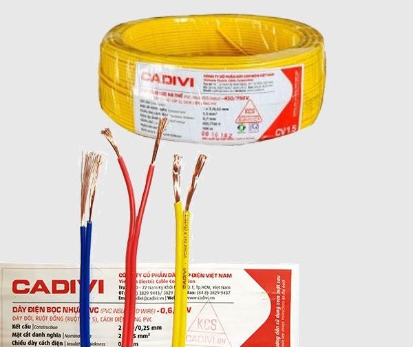 Dây điện Cadivi lõi đơn có điện áp 450/750V